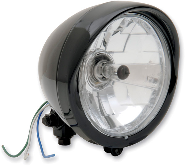 Black 5-3/4″ Diamond Style Headlight Assembly