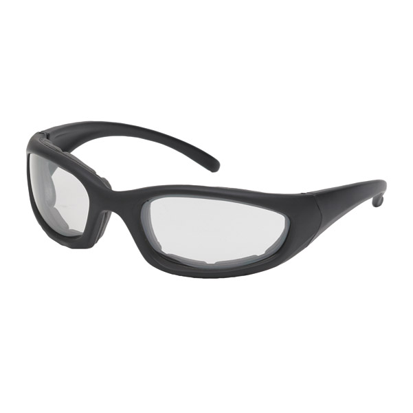 Chap'el Performance Padded Black Sunglasses with Clear Lens