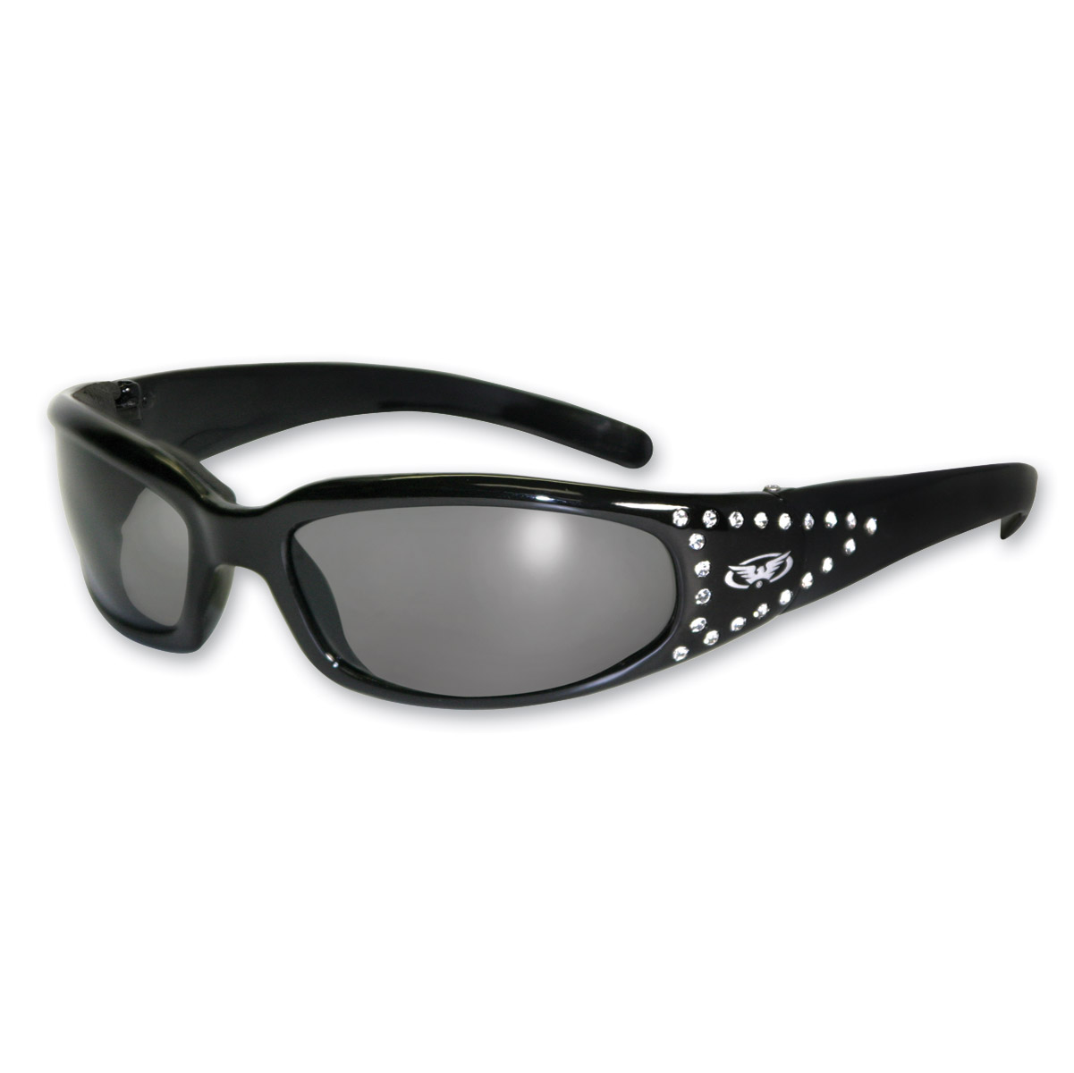 Global Vision Eyewear Marilyn 3 24 Black Frame Photochromatic Sunglasses with Rhinestones