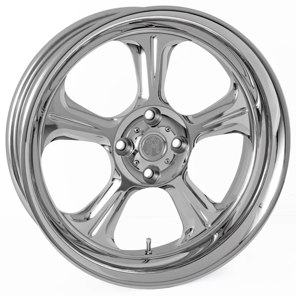 Performance Machine Wrath Chrome Rear Wheel, 15