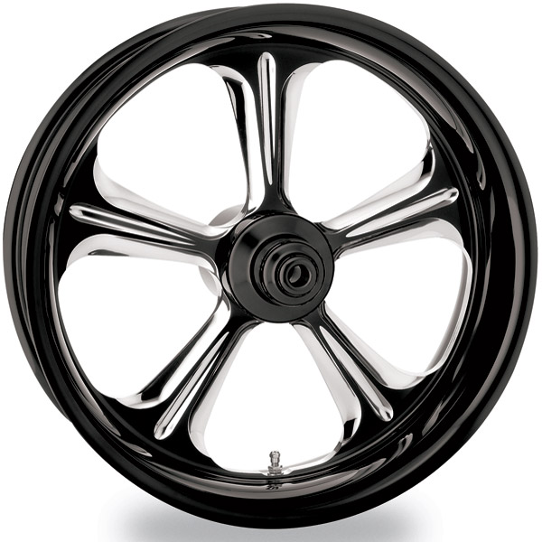 Performance Machine Wrath Platinum Contrast Cut Front Wheel, 18