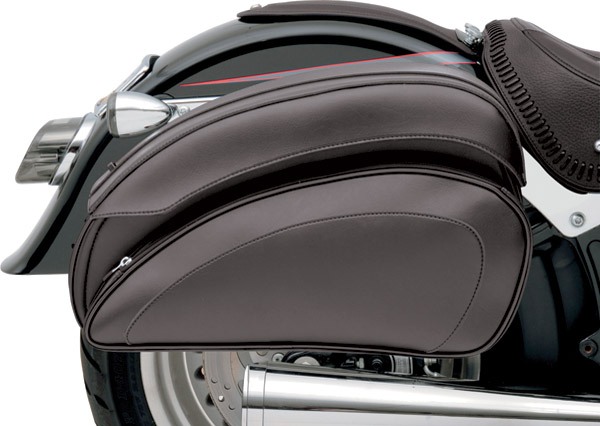 Saddlemen Cruis'N Deluxe Saddlebag Set with Chrome Supports