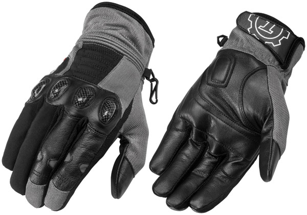 Firstgear Dark Gray/Black Men's Mesh-Tex Gloves