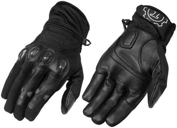 Firstgear Black Men's Mesh-Tex Gloves