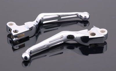 J&P Cycles® Slotted Wide Blade Levers