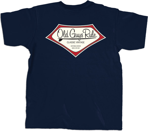 Old Guys Rule Classic Vintage Navy T-shirt