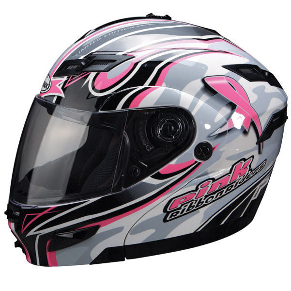 GMAX GM54S Breast Cancer Awareness Pink Ribbon Riders Modular Helmet