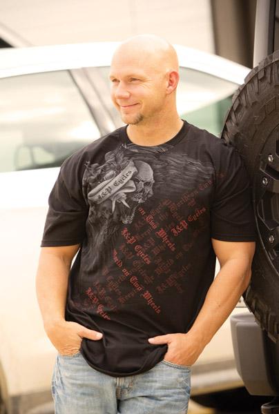 J&P Cycles® Flying Skull Black T-Shirt