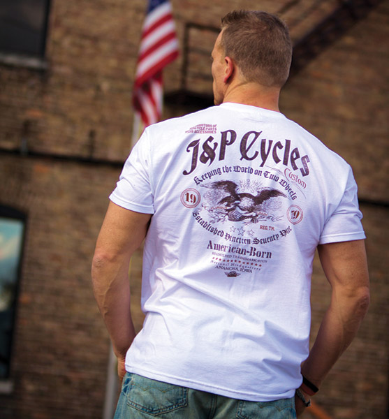 J&P Cycles® Freebird White T-Shirt