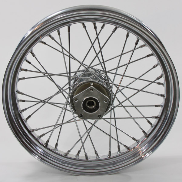 V-Twin Manufacturing Chrome 40-Spoke Front Wheel, 18