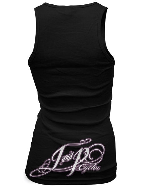 J&P Cycles® Sugar Skull Black Ladies Tank Tops