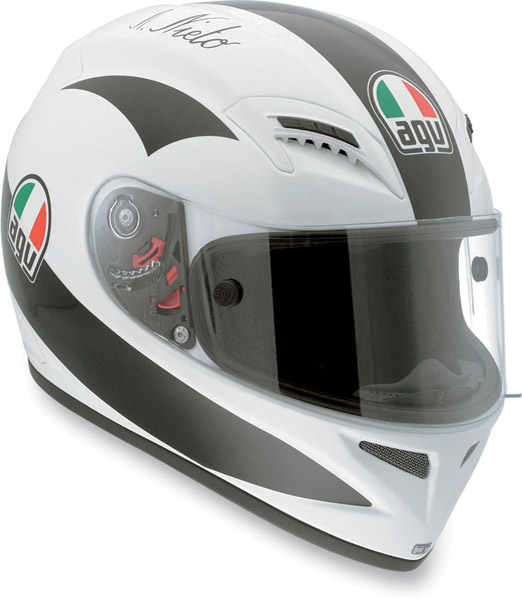 AGV Grid Replica Angel Nieto White Full Face Helmet