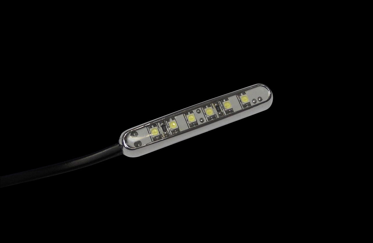 Custom Dynamics White Magic Spot LED Light Bar, Chrome