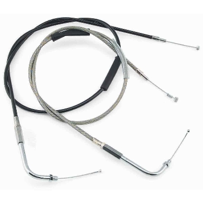 Biker's Choice Black Vinyl Throttle Cable