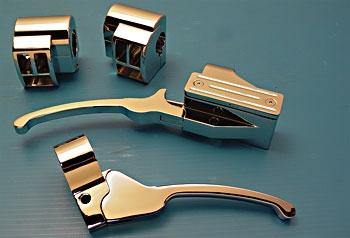 V-Twin Manufacturing Billet Handlebar Control Kit
