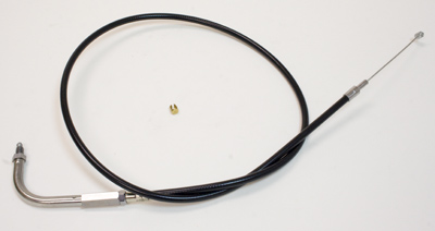 J&P Cycles® Black Vinyl Throttle Cable