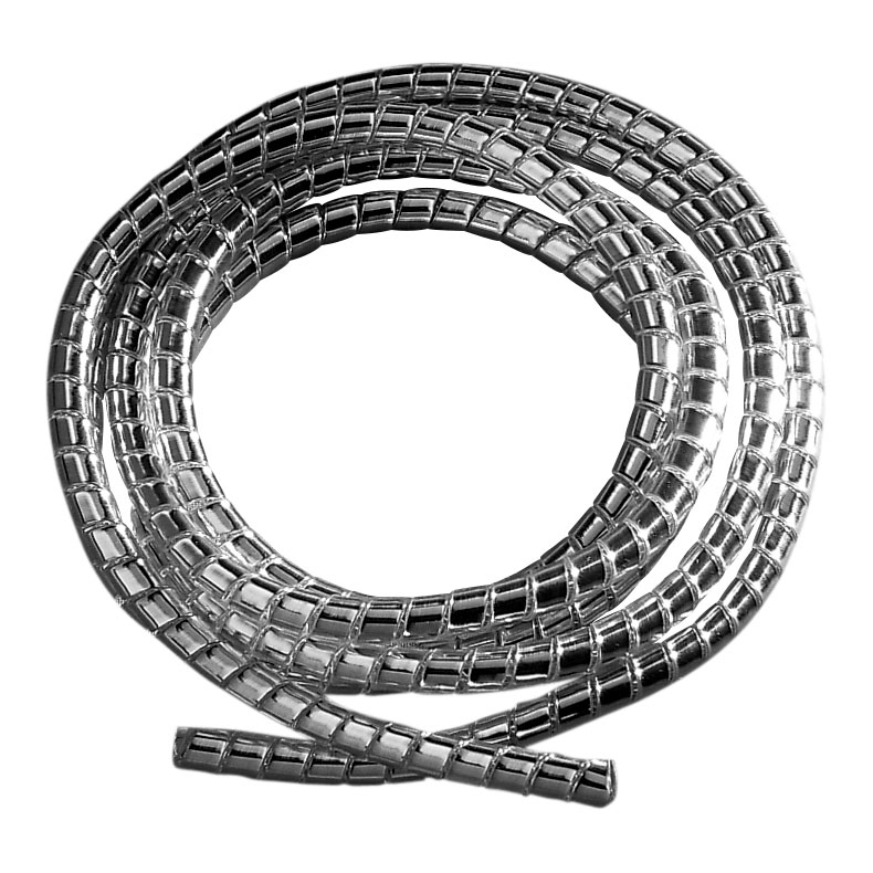 J&P Cycles® Chrome Cable Covering, 5′ x 3/16″ diameter