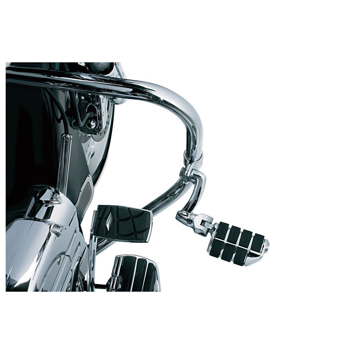 Kuryakyn Longhorn Offset Dually Highway Pegs with 1-1/4″ Magnum Quick Clamps