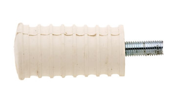 White Long Stud Stock Rubber Shifter Peg