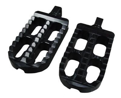 Joker Machine Black Long Adjustable Serrated Footpegs
