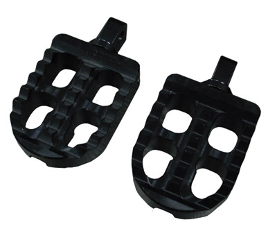 Joker Machine Short Black Adjustable Serrated Footpegs