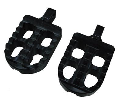 Joker Machine Black Short Adjustable Serrated Footpegs
