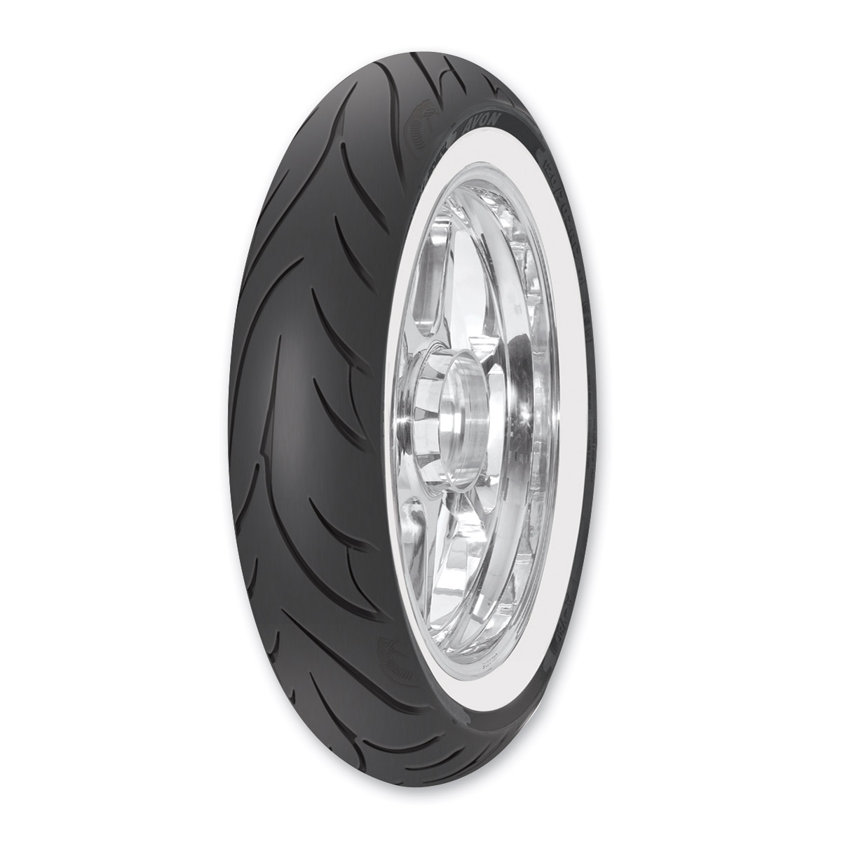 Avon AV71 Cobra MT90B16 Wide Whitewall Front Tire