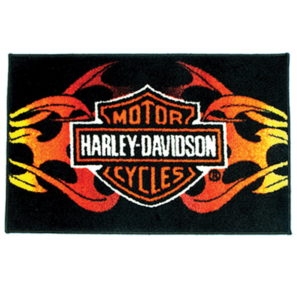Hot Leathers Harley-Davidson Tribal Flame Rug