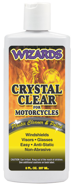 Wizards Crystal Clear Plastic Cleaner and Polish 8 oz. Bottle