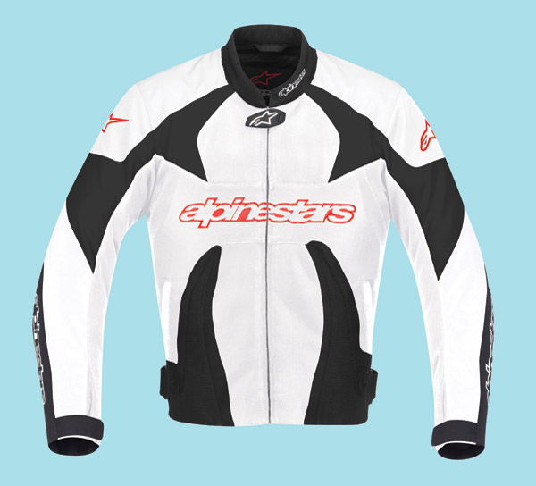 Alpinestars T-GP Plus Air Black, Red, and White Textile Jacket