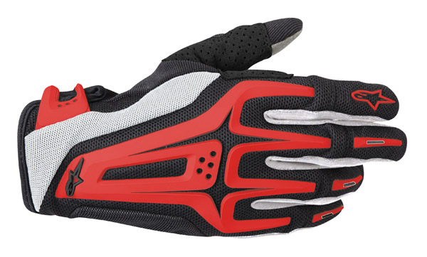 Alpinestars Dual Black, Red, and White Gloves