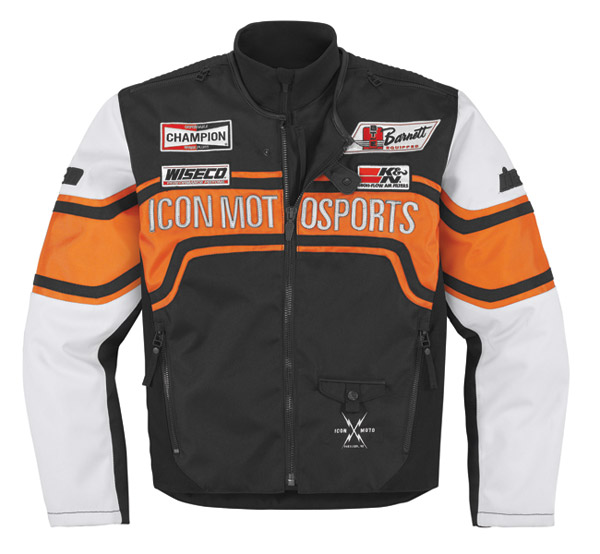 ICON Brawnson Sidewinder Orange Jacket