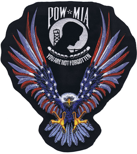 Lethal Threat Stars And Stripes P.O.W. Eagle Patch