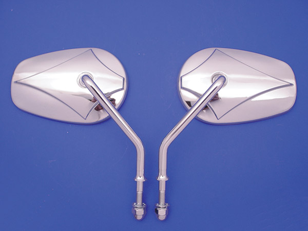 Teardrop Short Stem Mirror Set