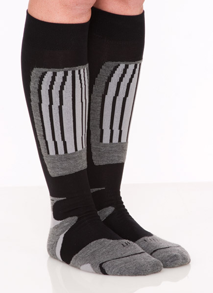 SOKz Silver Socks Tall Gray