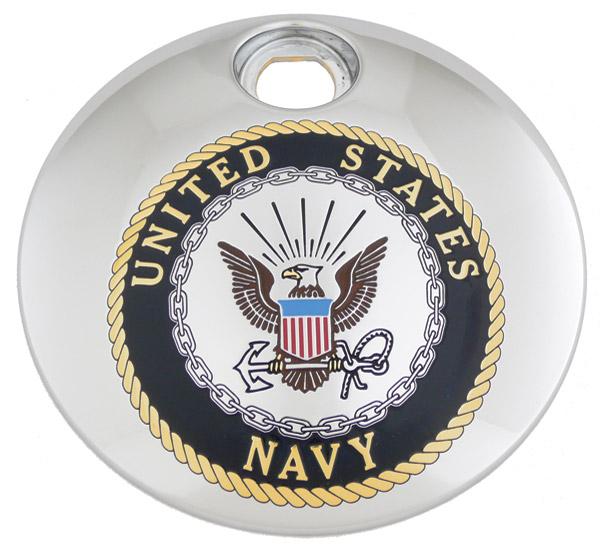 Custom Engraving Ltd. Navy Fuel Door Cover