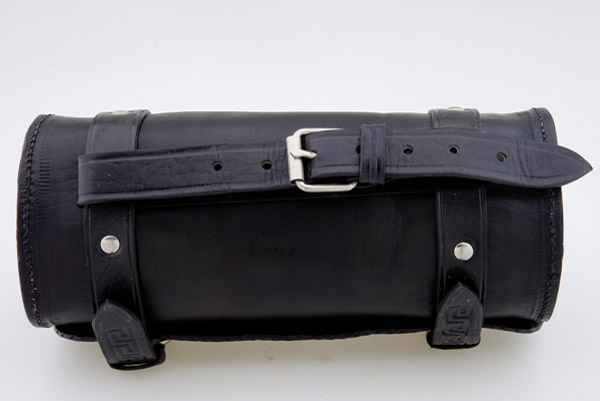 Convict Custom Cycles Black/Brown Leather Hand Made Tool Bag
