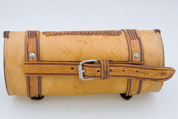 Convict Custom Cycles Tan Leather Hand Made Tool Bag