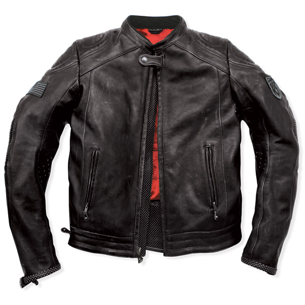 Roland Sands Design Mission Black Leather Jacket