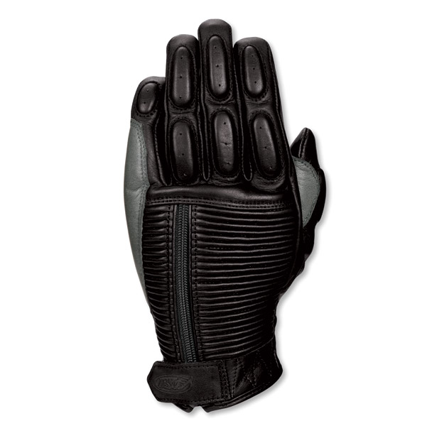 Roland Sands Design Dezel Black Leather Gloves
