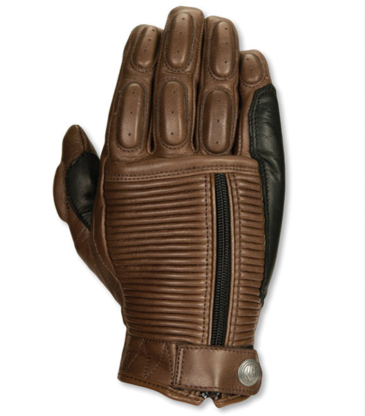 Roland Sands Design Dezel Tobacco Leather Gloves