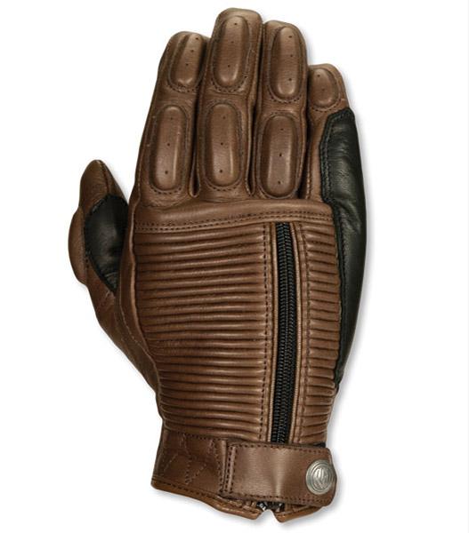 Roland Sands Design Dezel Tobacco Leather Gloves