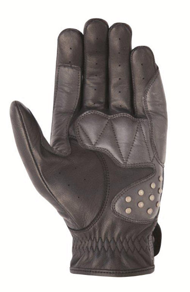 Roland Sands Design Mission Black Leather Gloves