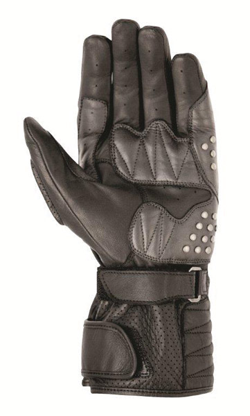 Roland Sands Design Domino Black Leather Gloves