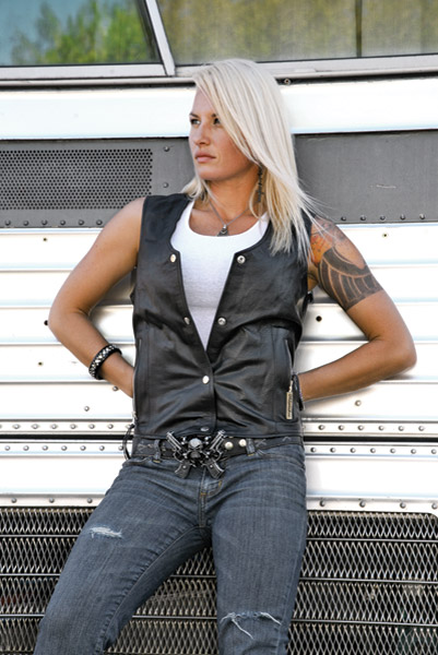 Milwaukee Motorcycle Clothing Co. Darla Leather Vest