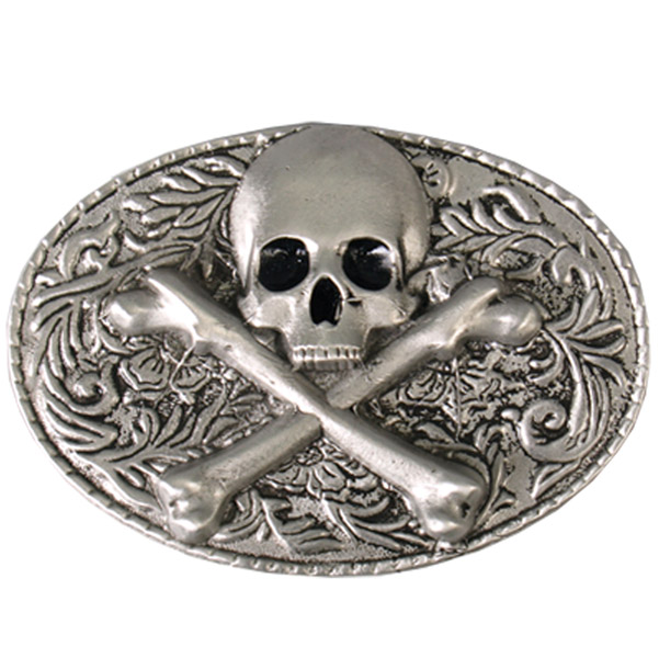 Hot Leathers Skull and Crossbones Belt Buckle