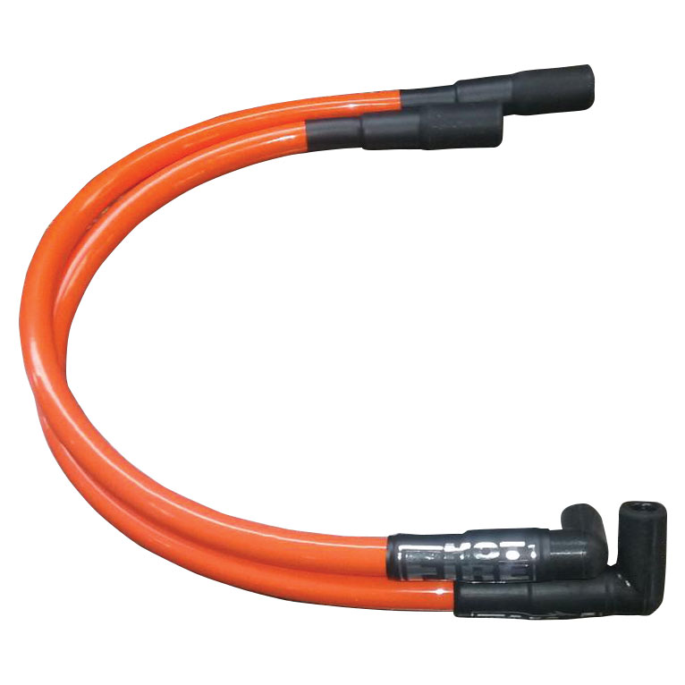 Hot Fire Spark Plug Wire Orange for Touring Models