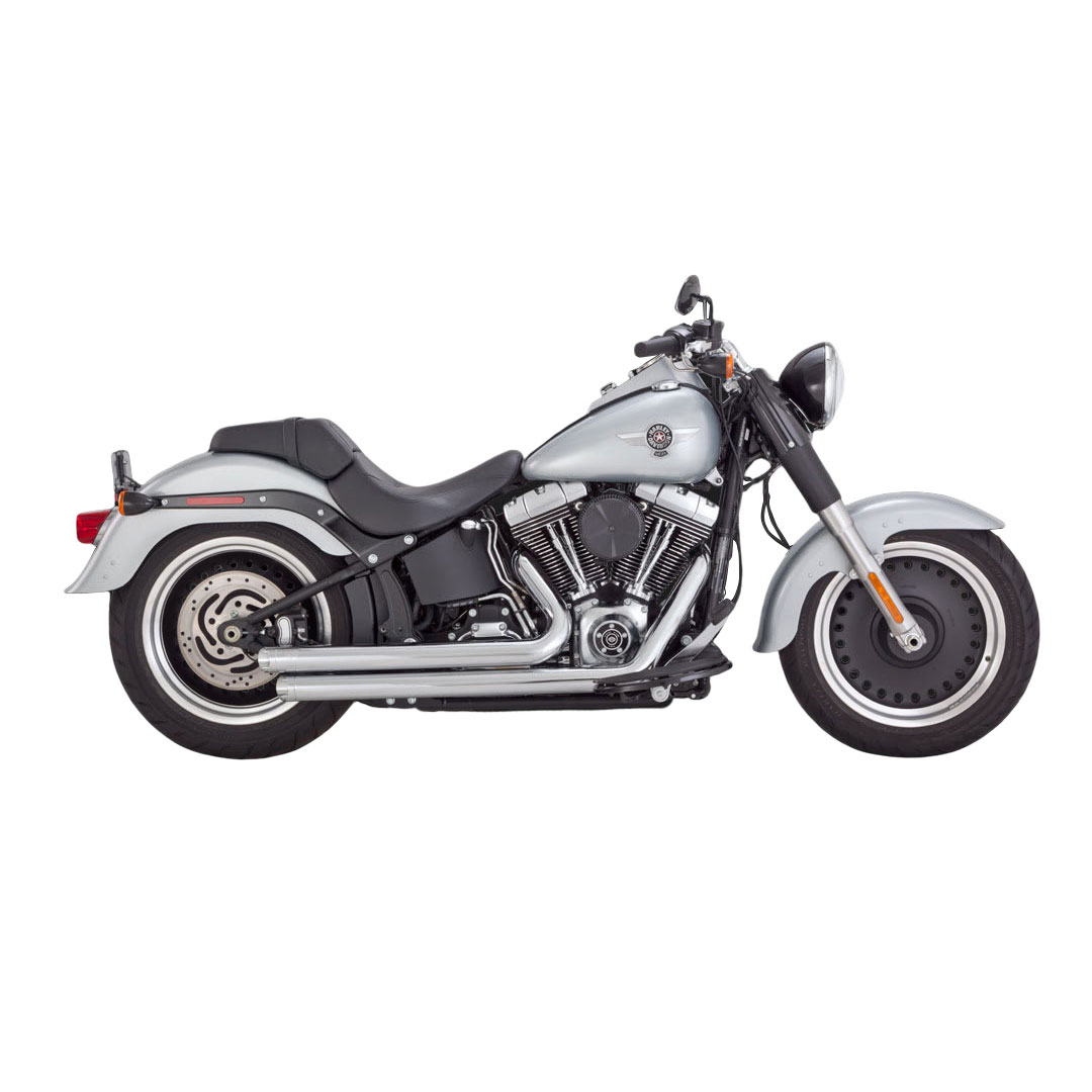 Vance & Hines Big Shots Staggered Exhaust Chrome - 17939