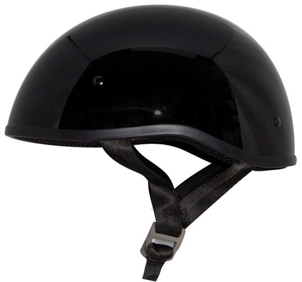 Zox Retro Old School Gloss Black Half Helmet
