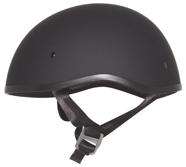Zox Retro Old School Matte Black Half Helmet